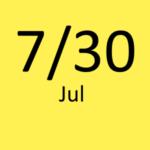 7月30日
