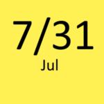 7月31日