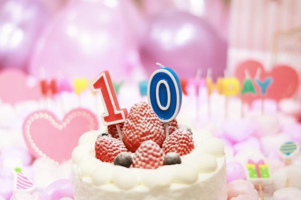 10日生まれのバースデーケーキ