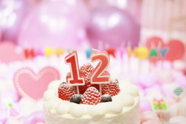 12日の誕生日ケーキです
