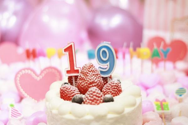 19日の誕生日ケーキです