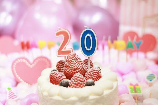 20日に誕生日の方のバースデーケーキ