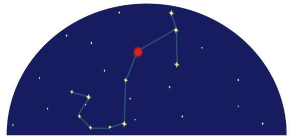 星図で見るさそり座