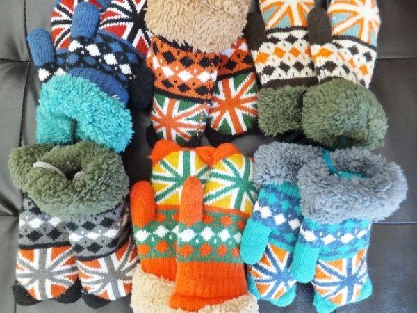カラフルで冬にピッタリの手袋