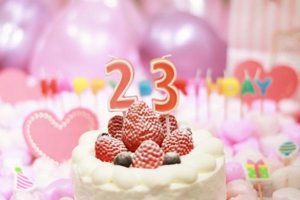 23日の誕生日ケーキ