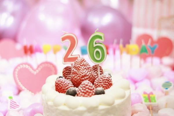26日にお誕生日の方へバースデーケーキです!