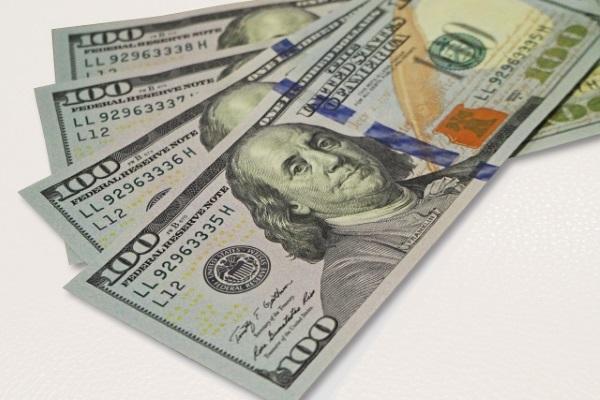 フランクリンの載った米ドル紙幣