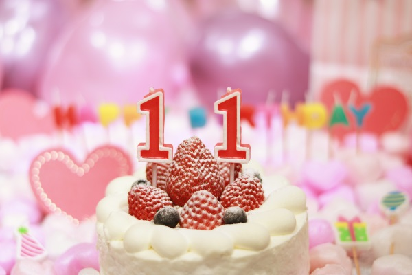 11日の誕生日ケーキだー!