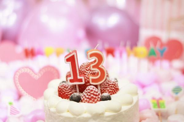 13日の誕生日ケーキです
