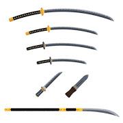 たくさんの種類の刀