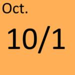 10月1日