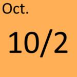 10月2日