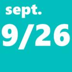 9月26日