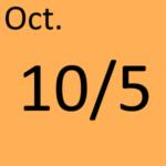 10月5日