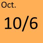 10月6日