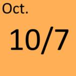 10月7日