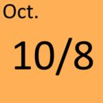 10月8日