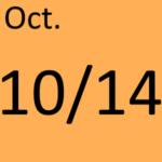 10月14日