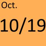 10月19日