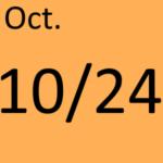 10月24日