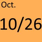 10月26日