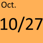 10月27日