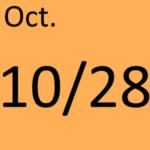 10月28日