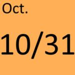 10月31日
