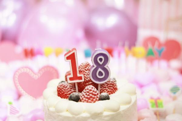 18日のお誕生日ケーキ