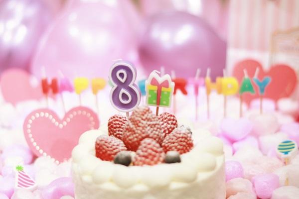 8日のお誕生日ケーキ