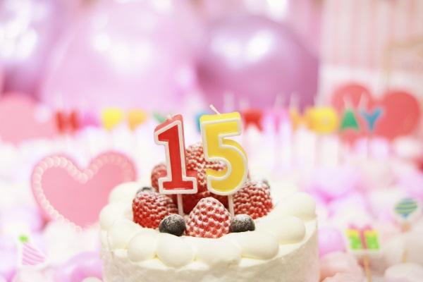15日の誕生日ケーキ