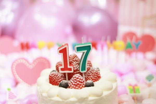 17日の誕生日ケーキ