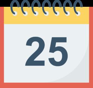 月末25日