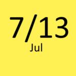 7月13日