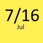 7月16日