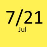 7月21日