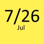 7月26日