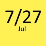 7月27日